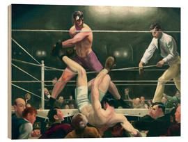 Cuadro de madera  Dempsey and Firpo - George Wesley Bellows