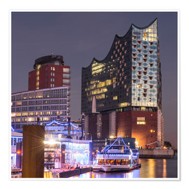 Póster Elbphilharmonie and Marina in Hamburg