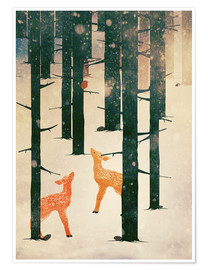 Póster  Winter Deer - Sybille Sterk