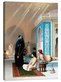 Lienzo  Bad in the harem - Jean Leon Gerome