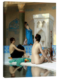 Lienzo  After the bath - Jean Leon Gerome