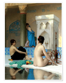 Póster  After the bath - Jean Leon Gerome