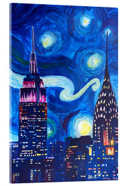 Cuadro de metacrilato  Starry Night, in New York - Van Gogh inspirations in Manhattan - M. Bleichner
