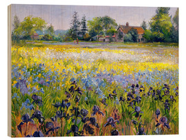 Cuadro de madera  field of flowers - Timothy Easton
