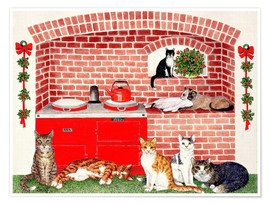 Póster Cats in the kitchen