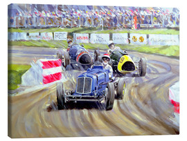Lienzo  The First Race at the Goodwood Revival, 1998 - Clive Metcalfe