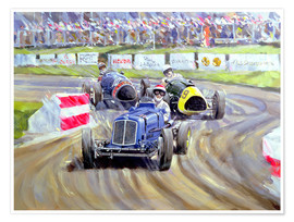 Póster  The First Race at the Goodwood Revival, 1998 - Clive Metcalfe