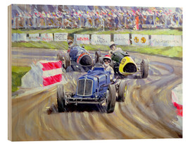 Cuadro de madera  The First Race at the Goodwood Revival, 1998 - Clive Metcalfe