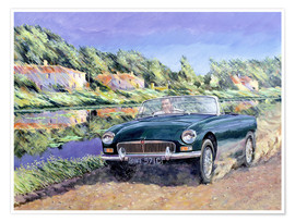 Póster MGB by a French Canal