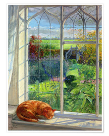 Póster  Cat in the Window, Summer - Timothy Easton