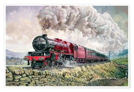 Póster  The Princess Elizabeth Storms North in All Weathers - David Nolan