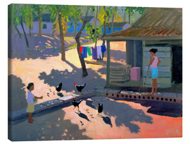 Lienzo  Hens and Chickens, Cuba, 1997 - Andrew Macara