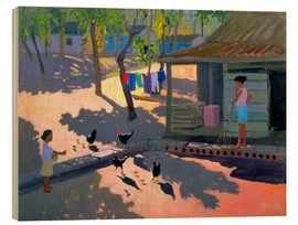 Cuadro de madera  Hens and Chickens, Cuba, 1997 - Andrew Macara