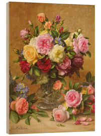 Cuadro de madera  Victorian Roses - Albert Williams