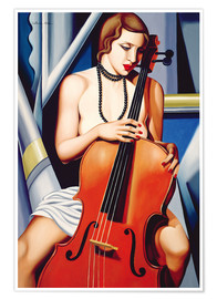Póster  Mujer con cello - Catherine Abel