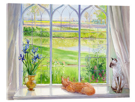 Cuadro de metacrilato  Cats at the window - Timothy Easton