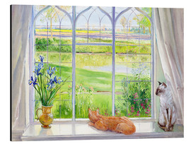 Cuadro de aluminio  Cats at the window - Timothy Easton