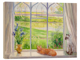 Cuadro de madera  Cats at the window - Timothy Easton