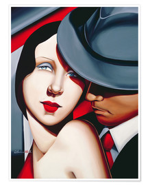 Póster  ADAM & EVE, Gangster Study - Catherine Abel