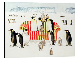 Cuadro de aluminio  Penguins on a sofa - E.B. Watts