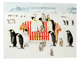 Cuadro de PVC  Penguins on a sofa - E.B. Watts