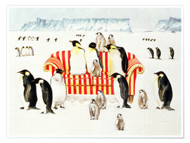 Póster  Penguins on a sofa - E.B. Watts