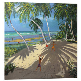 Cuadro de metacrilato  Palm trees, Clovelly beach, Barbados - Andrew Macara