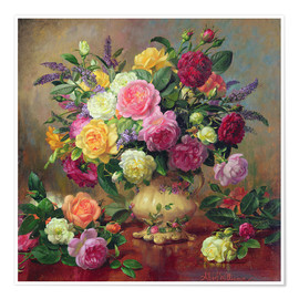 Póster  Roses from a Victorian Garden - Albert Williams