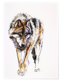 Póster  European Wolf - Mark Adlington