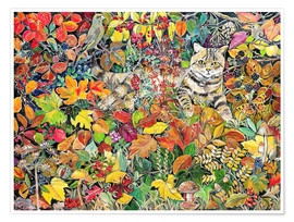 Póster  Tabby in Autumn, 1996 - Hilary Jones