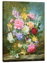 Lienzo  Peonies and mixed flowers - Albert Williams