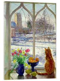 Cuadro de metacrilato  Snow Shadows and Cat - Timothy Easton