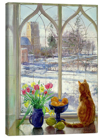 Lienzo  Snow Shadows and Cat - Timothy Easton
