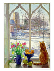 Póster  Snow Shadows and Cat - Timothy Easton
