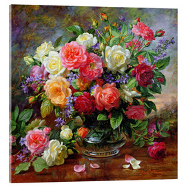 Metacrilato  Roses - The Perfection of Summer - Albert Williams