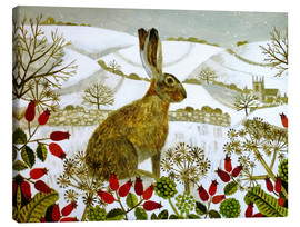 Lienzo  Seated Hare in Snow - Vanessa Bowman