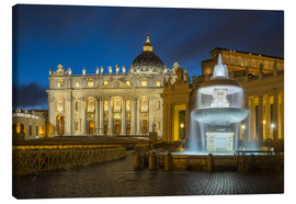 Lienzo  Fountain at the St. Peters square Roma - FineArt Panorama