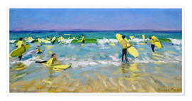 Póster  Surf School at St. Ives - Andrew Macara