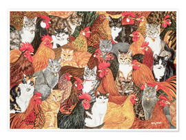 Póster  Chicken-Cats - Ditz