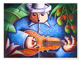 Póster  guitar player of Mango Bajito - Oscar Ortiz