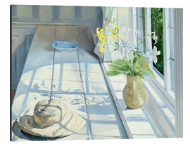 Cuadro de aluminio  Still life in front of the window - Timothy Easton