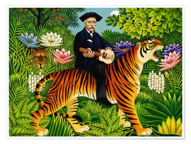 Póster  Henri Rousseau's Dream - Frances Broomfield