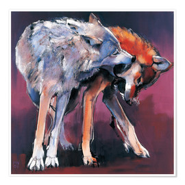 Póster Two Wolves