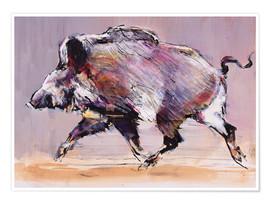 Póster  Running boar - Mark Adlington