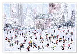 Póster  Skating Rink, Central Park, New York, 1994 - Judy Joel