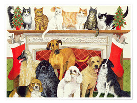 Póster  Dogs and Cats - Pat Scott