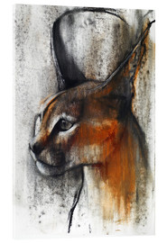 Cuadro de metacrilato  Caracal Profile - Mark Adlington