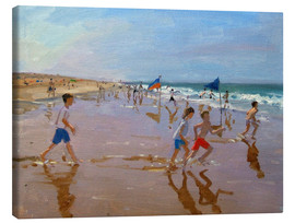 Lienzo  Flags and reflections, Montalivet - Andrew Macara