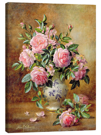 Lienzo  A Medley of Pink Roses - Albert Williams