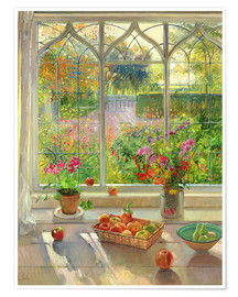 Póster  Overlooking the garden - Timothy Easton